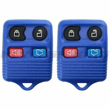 2 New Blue Replacement Keyless Entry Remote Car Truck Key Fob Beeper Control