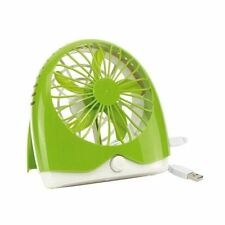 Green Battery / USB Fan, Adjustable Speed, On Off Switch, Office Desktop BNIB
