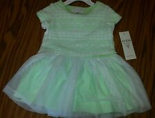 NWT Guess Los Angeles Toddler Girls Green Lace And Chiffon Dress $36.50 - 2T