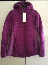 NWT LULULEMON TEVI Purple LTWT 800 Fill Goose Down For A Run Hooded Jacket Sz 12