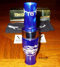 TIM GROUNDS TRIPLE THANG SHORT REED CANADA GOOSE CALL ELECTRIC BLUE NEW!