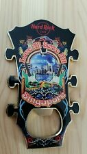 Hard Rock Cafe Singapore GUITAR HEAD Bottle Opener Magnet *RARE*