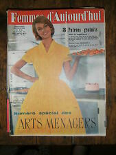 Femmes d'aujourd'hui N° 773 1960 Mode vintage  patrons Couture Broderie Robe