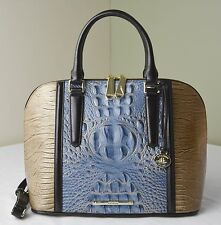 Brahmin Satellite Palma Embossed Leather Vivian Satchel