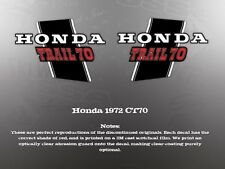 HONDA 1972 CT70 TRAIL FRAME DECALS GRAPHICS