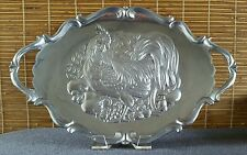 Lenox Rooster Serving Tray Platter Metalware Spring Time Table
