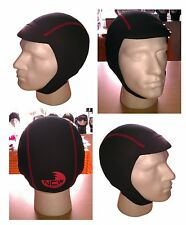 Peaked wetsuit cap hat hood. 2.5mm Finemesh super stretch neo. Great for Kayak