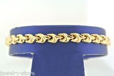 14kt Yellow Gold Handmade Ladies Fancy Bracelet 8.1gm 7 Inches,  Made In Italy