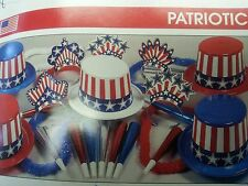 PATRIOTIC/EVENT PARTY ( KIT FOR 25 PEOPLE ) HATS/RED,WHITE, BLUE/ NEW YEAR'S EVE