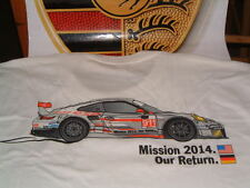 PORSCHE NORTH AMERICA PORSCHE RACING, LE MANS EVENT WHITE T-SHIRT USA S EURO M