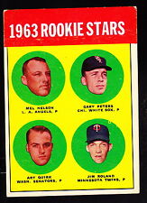 1963 TOPPS #522 MEL NELSON/GARY PETERS/ART QUIRK/JIM ROLAND