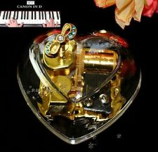 Gorgeous Heart Shape Wind Up Music Box : CANON IN D