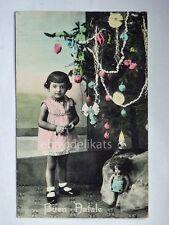 BUON NATALE bambina bambola doll Lenci vecchia cartolina