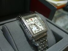MICHELE WATCH Deco Day Diamond, Authentic with Box & Papers RETAILS $1995.00 !!~