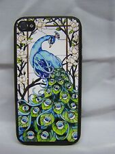PEACOCK DESIGN # 1     iPhone 5  Cover Case Skin Rubber/ Aluminum
