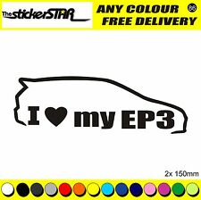 JDM JAP Civic Type R MUGEN cuillère confiance tune EP3 i love my EP3 Autocollants Stickers