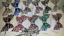 Joblot 12 pcs Bow Design Diamante hairclips hairgrips NEW wholesale lot 5
