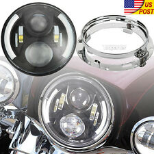 "7"" LED Daymaker Headlight Mounting Ring For Harley Davidson Ultra Classic FLHTCU"
