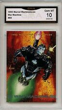 1993 Marvel Masterpieces WAR MACHINE card graded GMA GEM MINT 10