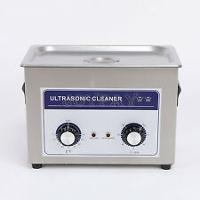 3L Ultrasonic Cleaner Heater Mechanical 100 W 40KHz Jewelry Dental CE ROHS