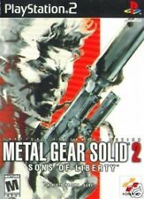 METAL GEAR SOLID 2 - SONS OF LIBERTY - SONY FOR PS2 PS3 GAME ENGLISH