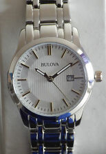 Bulova Ladies 98M121 Stainless Steel Multi Link Bracelet Dress Watch - NEW