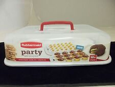 RUBBERMAID PARTY KIT CAKE EGG CUPCAKE KEEPER STORAGE AND TRANSPORT  NEW 1939942