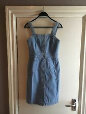TOPSHOP Denim Light Blue Dress size UK8