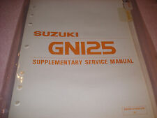 Suzuki 1983 GN125 Supplementary Service Manual P/N 99500-31000-03E