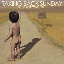 Where You Want to Be [ECD] by Taking Back Sunday (CD, Jul-2004, Victory...
