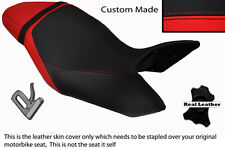 BRIGHT RED & BLACK CUSTOM FITS TRIUMPH SPEED TRIPLE 1050 11-13 SEAT COVER