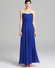 NWT $295 Vera Wang Gown Formal Dress Strapless Sweetheart Cobalt Blue Size 4