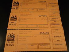 SPIRIT CRUISES Lot - 3 Unused Tickets 5-29-98 NEW YORK CITY boat ride prom party