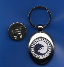 NORSE WOLF TROLLEY COIN KEYRING