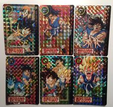Cartes Dragon Ball GT Carddass Hondan Part 27 #Prism Set 6/6 Doubles Unpeeled