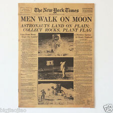 New York Times Apollo Project Historic Moment Old Newspapers Kraft Paper Posters