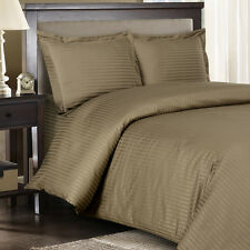 1000 Thread Count 100% Egyptian Cotton DUVET Set KING / CAL KING Taupe Stripe