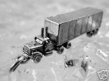 Tractor Trailer 3D Truck Sterling Silver Charm Pendant