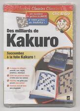 NEUF JEU PC KAKURO NOMBRE ILLIMITE DE GRILLES EN 5 NIVEAUX + 1000 SUDOKU