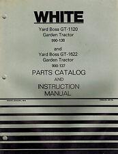 "WHITE GT1120 GT1622 YARD BOSS GARDEN TRACTORS OPERATOR'S MANUAL X ""NEW"""