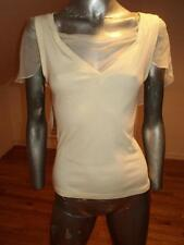Christian Dior Paris silk chiffon cotton top with cape back