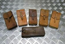 Genuine Unique Vintage Military Issued Brown  Leather Pouch with belt loop GD100