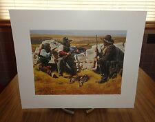 3 Cowboys Ready for Gun Battle Behind Rocks Picture Print by Bob Tommey Signed