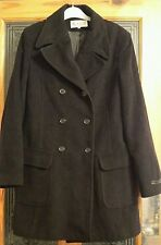 H&M HENNES . Warm , winter , Wool & Cashmere Coat . Black . UK size 12 , EU 40 .
