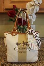 Coach 11791 Canvas Leather Bleecker Tote Bag $298 (PU130