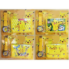 Pokemon Pikachu Children Kid Boy Wrist Watch Wallet Set For Christmas Gift New