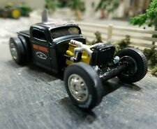 Custom 1:64 1936 Rat Rod Cheverolet CHEVY pickup truck diesel Harley Davidson