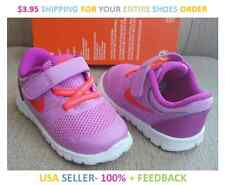 NEW Baby Girl Size 4c Nike Flex 2015 RN Purple Neon Orage Sneakers Size 4