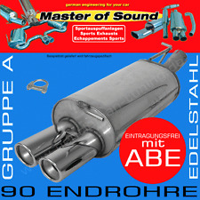 MASTER OF SOUND EDELSTAHL AUSPUFF OPEL ASTRA G COUPE/CABRIO 1.6 1.8 2.2