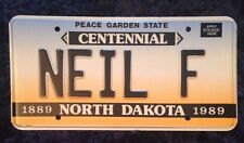 1989 NORTH DAKOTA VANITY PERSONALIZED LICENSE PLATE NEIL NEILL NEALE NEAL F